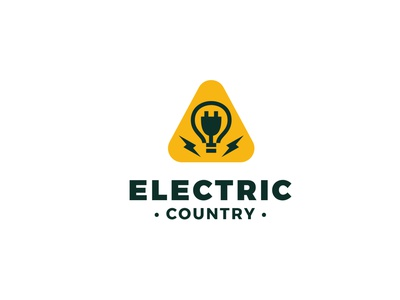 Electric Country instagram vector work craft media professional headfonts business name electric country country electricity branding custom tamplate design graphic graphic design logo