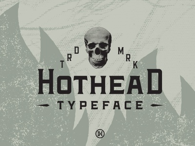Hothead Western Font logotype instagram font identity business name business professional work modern vintage graphic design western font illustration design letters custom typography type headfonts font typeface