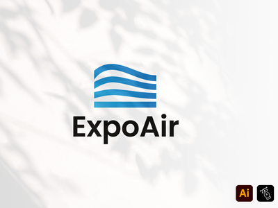 Expo Air Template vector instagram logo media professional identity business name expo air air branding design illustration headfonts graphic design logo template logo