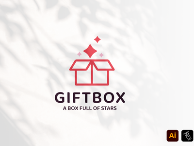 Gift Box instagram vector media identity business name professional gift box box gift illustration headfonts craft work logo design design logo template template branding graphic design logo