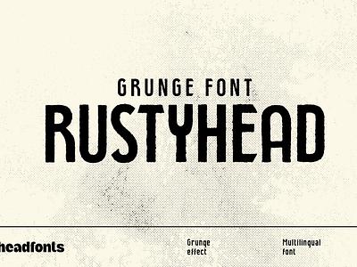 Rustyhead Typeface | Font professional font art deco font logo type vintage font headline font effect texture grunge font rustic font branding graphic design custom design typography type headfonts font typeface