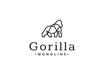 Gorilla Monoline instagram media vector professional branding identity business name gorilla monoline work craft illustration design typography headfonts graphic design logo template logo