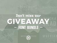 Font Bundle Giveaway