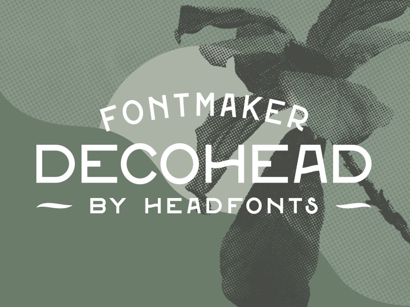 Decohead Typeface shop sale poster planet earth ecology green plants nature typeface type font art deco decorative font decorative
