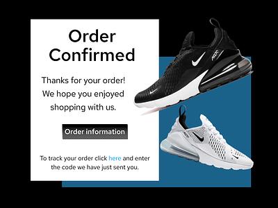 Email Receipt dailyuichallenge ui dailyui 100daychallenge design dailui nike order order confirmation email receipt 017 dailyui 017