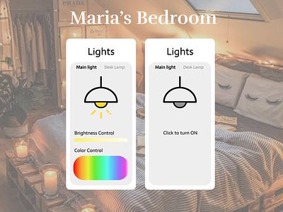 Home Monitoring Dashboard home monitoring dashboard bedroom monitoring home monitoring monitoring dashboard bedroom light daily ui dailyuichallenge ui design 100daychallenge dailyui dailyui 021 021
