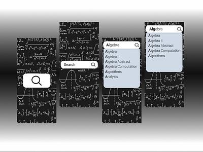 Search 100dayschallenge dailyui design ui maths search daily ui 022 dailyui 022