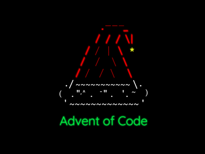 Advent of Code icon typography branding ui vector mv logo code challenge challenge christmas code advent of code