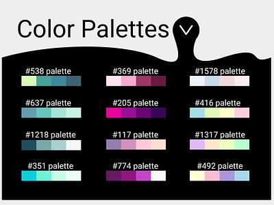 Dropdown pallettes color palette dropdown mv daily ui dailyuichallenge 100daychallenge dailyui design ui