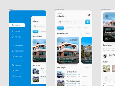 Home Renting App Visual Design visualdesign inertfacedesign userexperience mobiledesign productdesign ux ui design branding app design