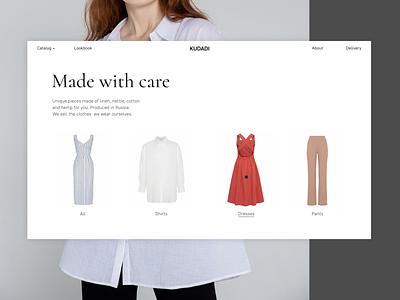 Ecommerce catalog animation hover clothing catalog online shopping ecommerce fashion tilda minimal ux web figma ui webdesign design