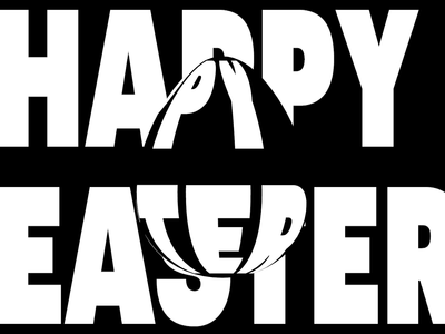 Happy Easter! negative space startup minimal branding logo brand studio brand agency brand design branding agency animated gif animation easter bunny easter eggs easter egg easter