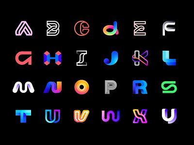 36 days of type - daily logo exploration challenge design brand aiste illustration behance typography lettermark logo mark icon branding logo 36daysoftype