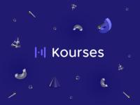 Kourses - logo and identity case study startup brand icon positioning strategy learning courses minimal logo mark branding studio branding agency branding logo