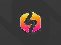 soundstorm [GRID] negative space grid guidelines logo design startup aiste branding design brand studio logo mark branding logo branding agency