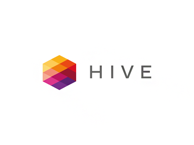 Hive branding agency hive hexagon colors colorful logo design tieatie yellow red orange