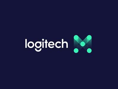logitech MX design logo design aiste minimal logo mark branding agency branding logitech