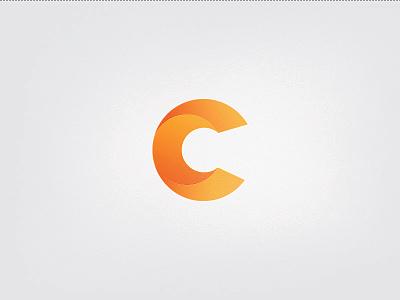 C letter icon No Grid c letter icon tie a tie orange tie logo yellow gradient paper