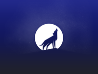 Wolf and the moon icon