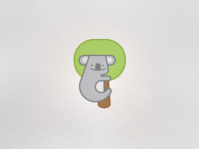 Koala hugging the tree icon