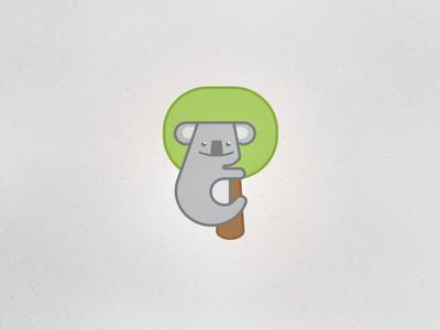Koala hugging the tree icon koala tree icon logo tieatie cute grey animal exotic