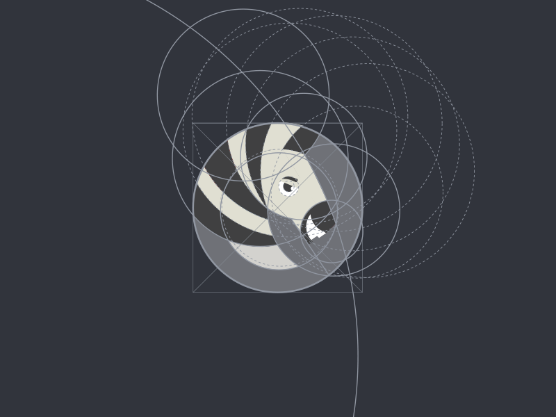 Zebra icon [Construction] guides construction idea zebra logo icon mark branding round shape minimal bold