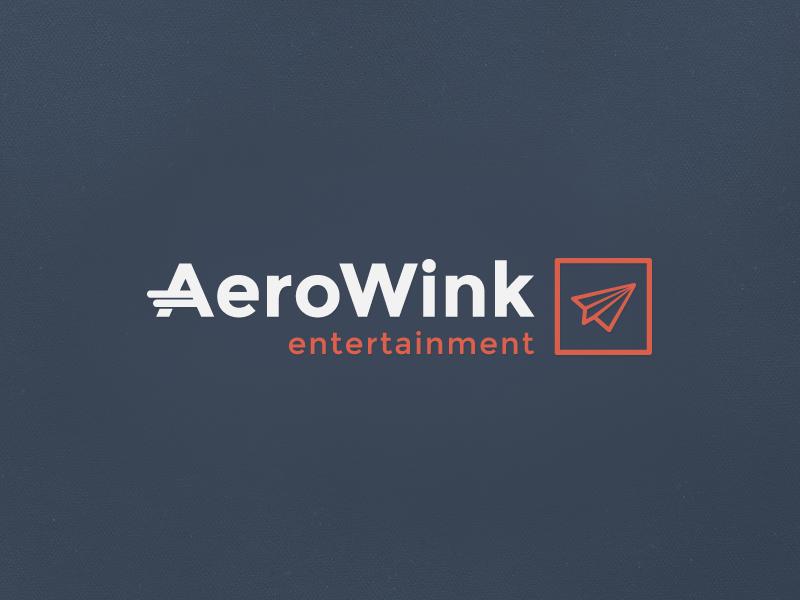 Entertainment Aerowink logo plane air view drone fun entertainment wink aero