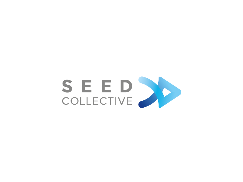 SEED Collective logo collective business startup entrepreneur tieatie bold colour icon consult seed law