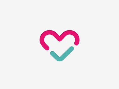 Fittle icon startup branding fitness logo branding agency heart check health positive logo mark brand mark australia
