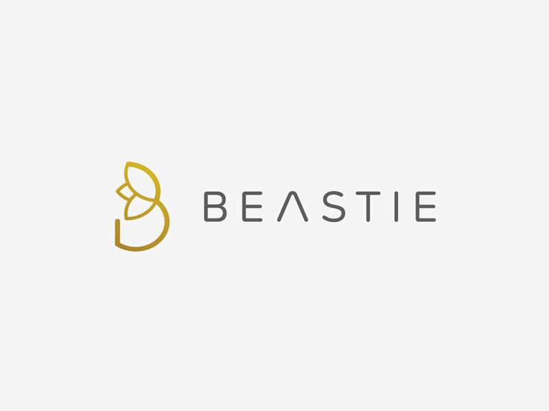 Beastie startup branding branding agency elegant logo letter icon flower elegant light logo mark brand mark