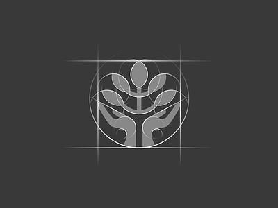 Caring arms icon [GRID] startup branding branding agency elegant logo letter icon negative space tree hands logo mark brand mark