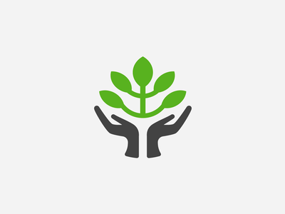 Caring arms icon leaf logo tree trunk brand architecture leaves leaf icon minimal negative space tree negative space logo negative-space brand mark logo mark hands tree negative space icon letter elegant logo branding agency branding startup