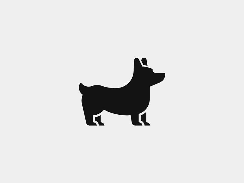 Corgi startup branding agency tieatie branding design mark brand icon logo corgi dog