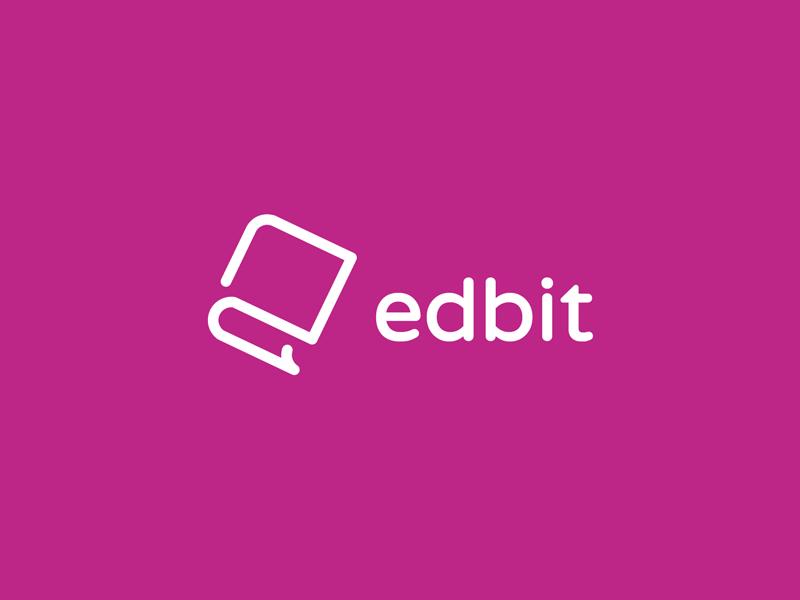 Edbit india startup branding branding agency elegant logo icon negative space education e book logo mark brand mark