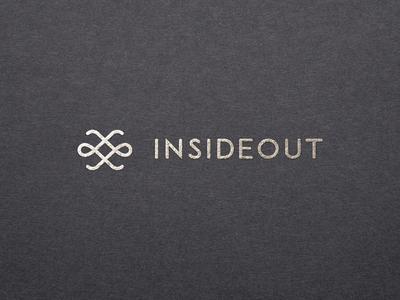 INSIDEOUT elegant branding agency branding startup interior brand mark logo in out outside inside