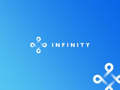INFINITY logo molecule medicine structure minimal hexagon tie tieatie brandmark logo mark icon brand agency startup
