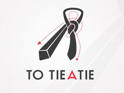 TO TIE A TIE logo tie logo tieatie tieing how to tie a tie grey red to instruction branding design great brand how simple minimal agency
