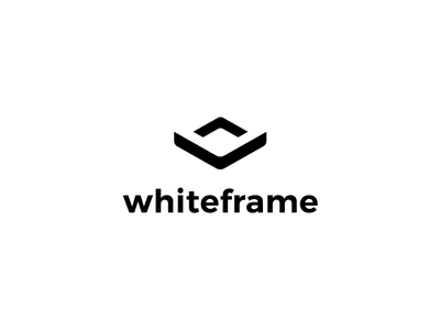 Whiteframe branding agency simple logo negative space logo minimal mark logo negative space icon hands hand geometry geometric