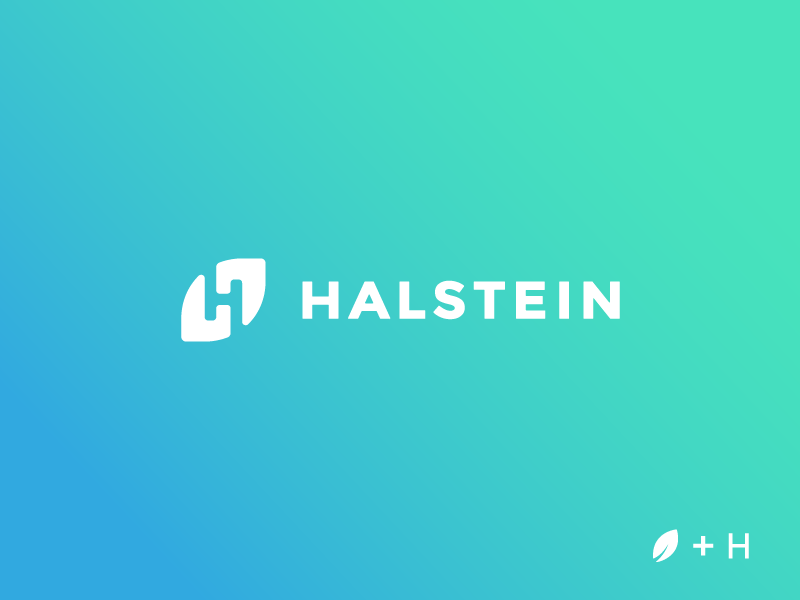 Halstein startup brand agency icon logo mark brandmark tieatie tie leaf negative space minimal structure unused
