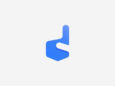 D + finger icon gradient logo mark startup logo design branding branding agency tieatie aiste logo designer simple logo negative space logo minimal mark minimal logo negative space icon d icon finger geometry geometric