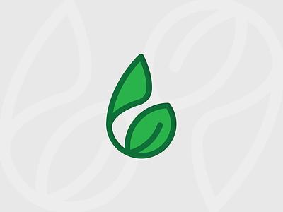 Humic land icon leaf growth brandmark simple logo tieatie minimal dubai manufacturer icon logo fertilizer land