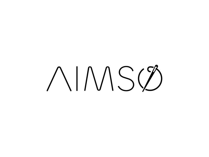 AIMSO logo design simple logo icon logo branding tieatie aiste brand designer minimal design needle tailor logo logo design fashion