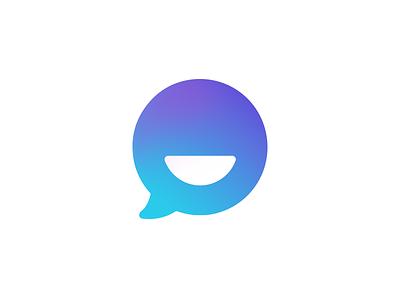 ChatPack tieatie idea simple minimal aiste designer logo design branding smile chat bubble