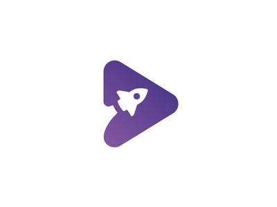 Play + Rocket icon