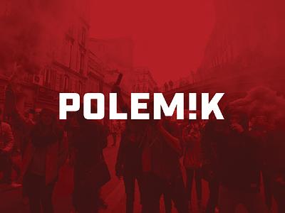 POLEMIK tieatie aiste typeface logo design publish news blog argument public polemic