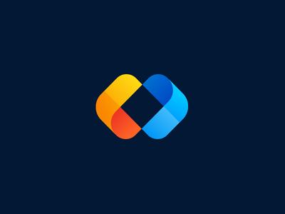 CLEER aiste logo mark branding agency tieatie colorful gradient branding logo design illusion arrow point