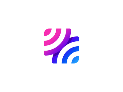 CONNECT icon negative space streamer stream streaming app streaming wifi connection logo unique logo brand play button illusion logo design branding gradient colorful tieatie branding agency logo mark aiste