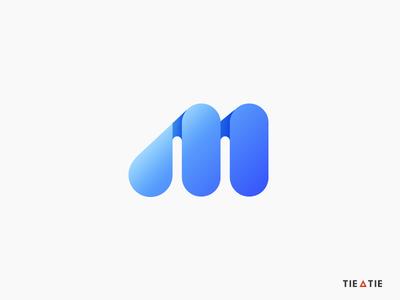 M icon simple logo design negative space logo design startup branding agency logo mark minimal icon logo construction grid branding m letter aiste tieatie logo agency colorful blue gradient