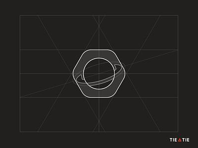 Orbit icon [GRID] grid construction orbit mark geometric comet aiste tieatie planet design icon negative space logo icon branding negative space