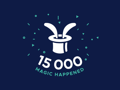15 000 followers on dribbble!